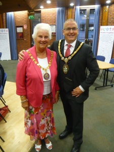 Me and Cllr Joe Baker, Mayor of Redditch